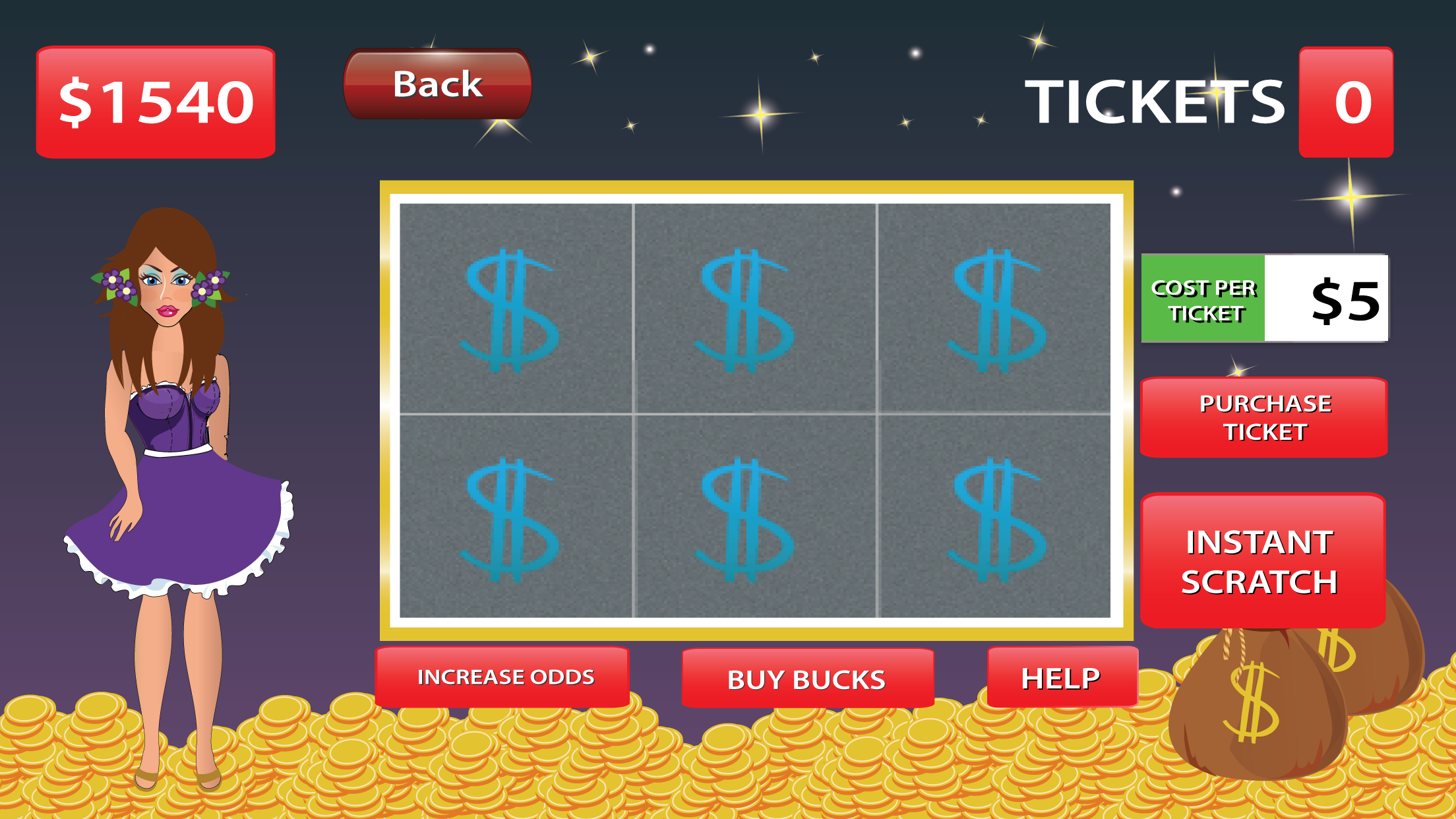 Scratcher Party - Scratch Off the Tickets and Make a Big Win Screenshot