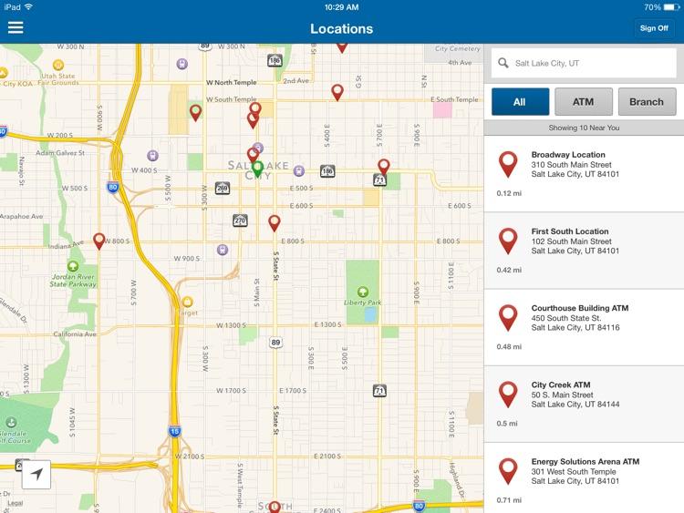 Zions Bank Mobile Banking for iPad screenshot-3
