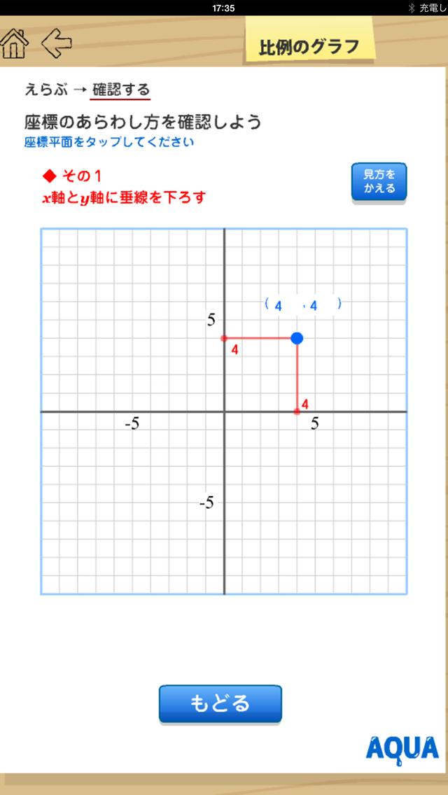 比例のグラフ さわってうごく数学「AQUAアクア」のおすすめ画像1