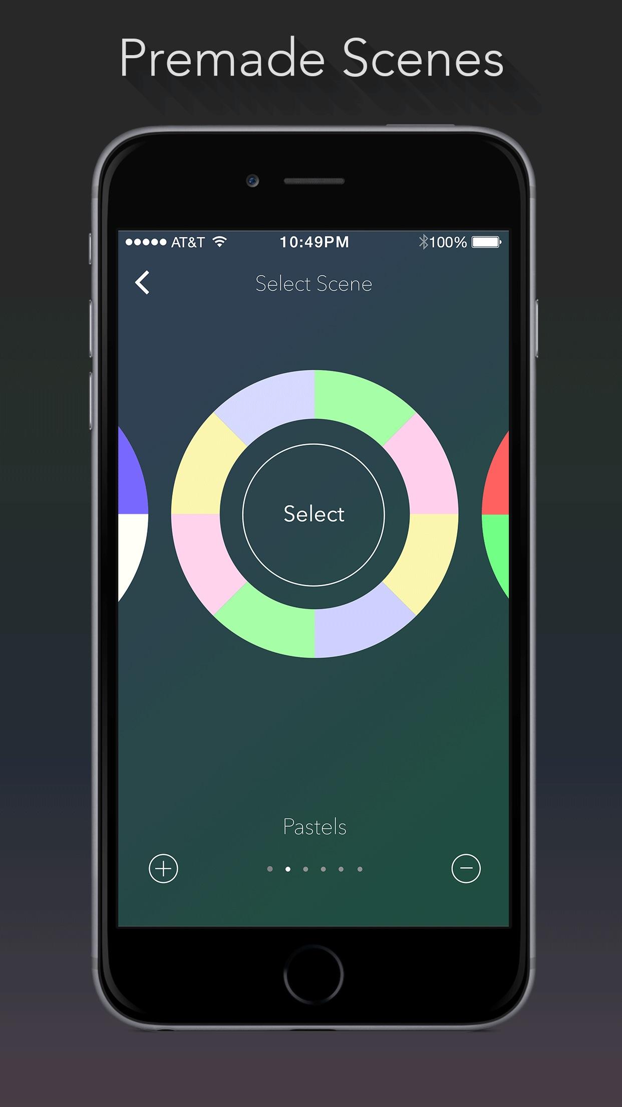Screenshot do app Lumenplay App-Enabled Lights
