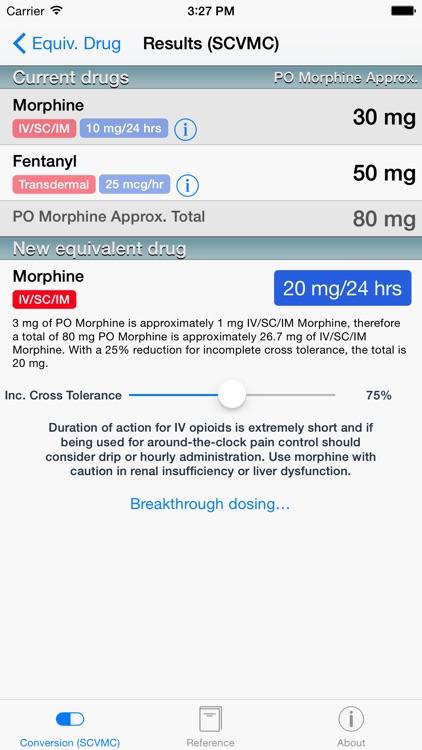 Opioids Dosage Conversion