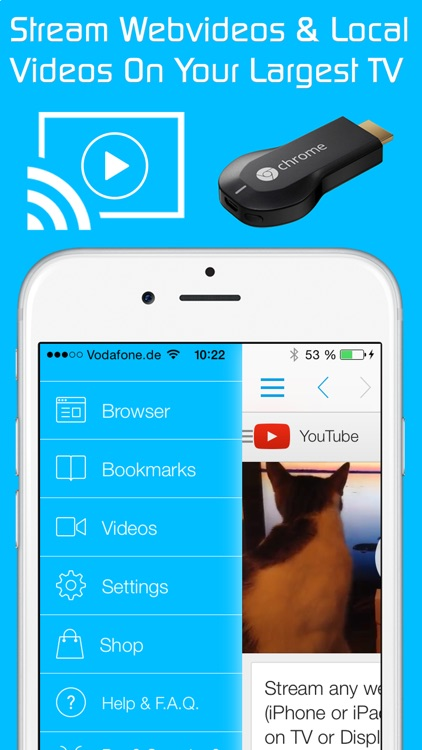 Video & TV Cast for Chromecast: Best Browser to cast and stream webvideos and local videos on TV & Displays app image