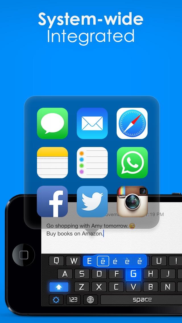 Screenshot for Tastatur Temaer Pro – nye definerbare tastatur skins til iPhone, iPad, iPod in Denmark App Store