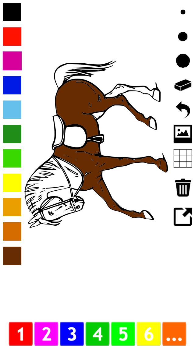 Активный! Книжка-раскраска Лошадей Для Детей: Учиться ...