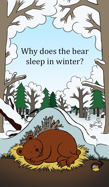 Why does the bear sleep in winter? A tale for children