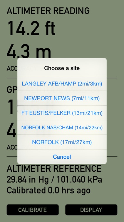 Pro Altimeter - Barometric Altimeter with Manual/GPS/METAR Calibration screenshot-3