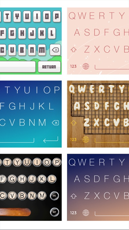 FancyKeyboard for iOS 8 - customize your keyboard with cool themes and backgrounds screenshot-1