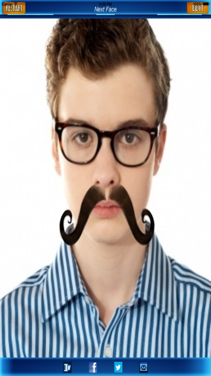 Mustache Photo Fun: Blend a Free Cool Mustache with your Photo screenshot-3