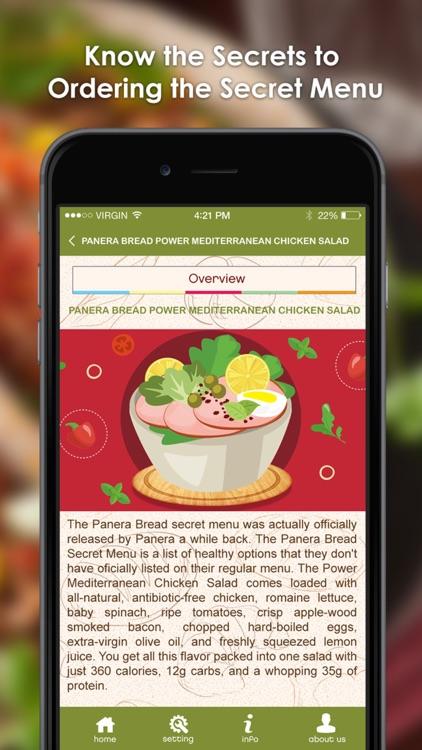 Secret Menu for Panera Bread