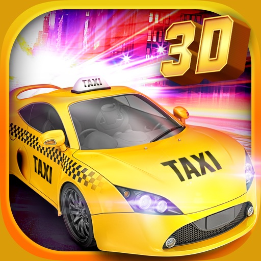 Real Taxi Driver 3D: Crazy Cab City Rush - Free Car Racing Games icon