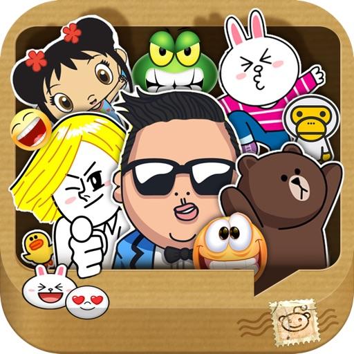 Whatsicons - Emoji Stickers, Emoticons, Text Pics for Whatsapp & Text Messaging