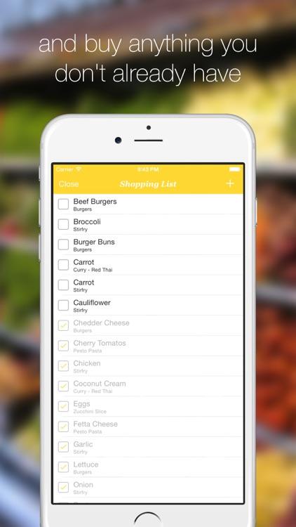 Dinner Plans - The Simple Meal Planner screenshot-3