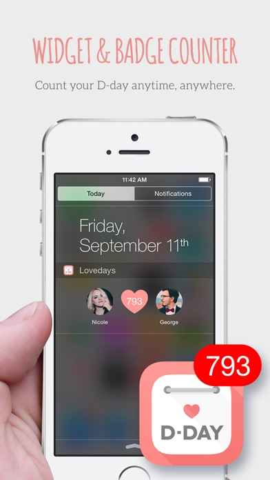 Screenshot for Lovedays - D-Day for Couples in Japan App Store