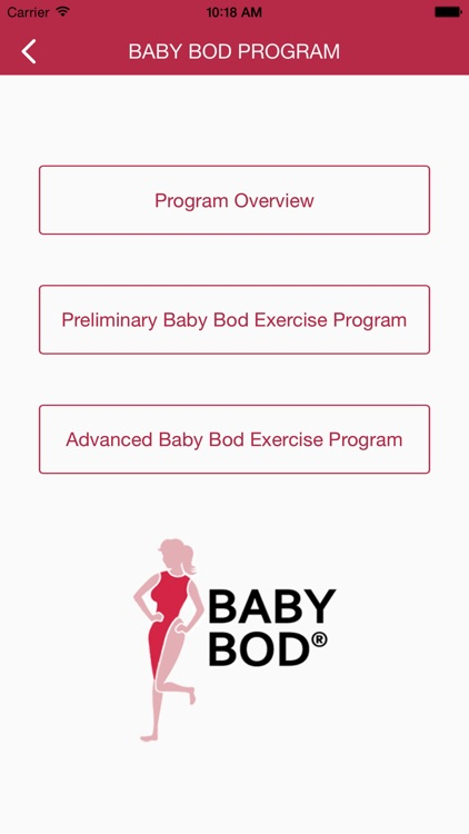 Baby Bod Exercise Tracker