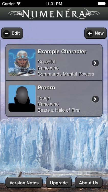 Numenera Character Creator