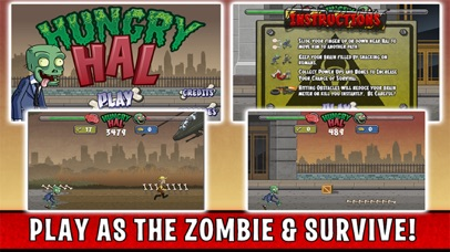 Hungry Hal - Zombie Endless Runner screenshot four