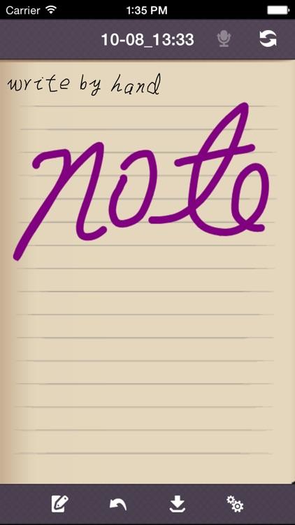 Handwriting Note Lite screenshot-4