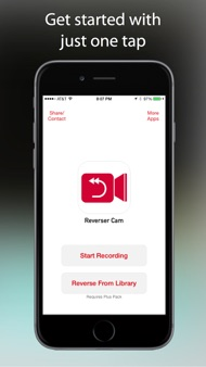 Reverser Cam - Backward Video Camera iphone images