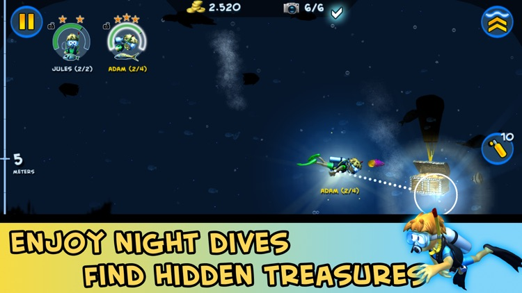 DiveMaster - Guide scuba divers in the best underwater deep sea diving adventure game, collect and share photos about ocean animals screenshot-3