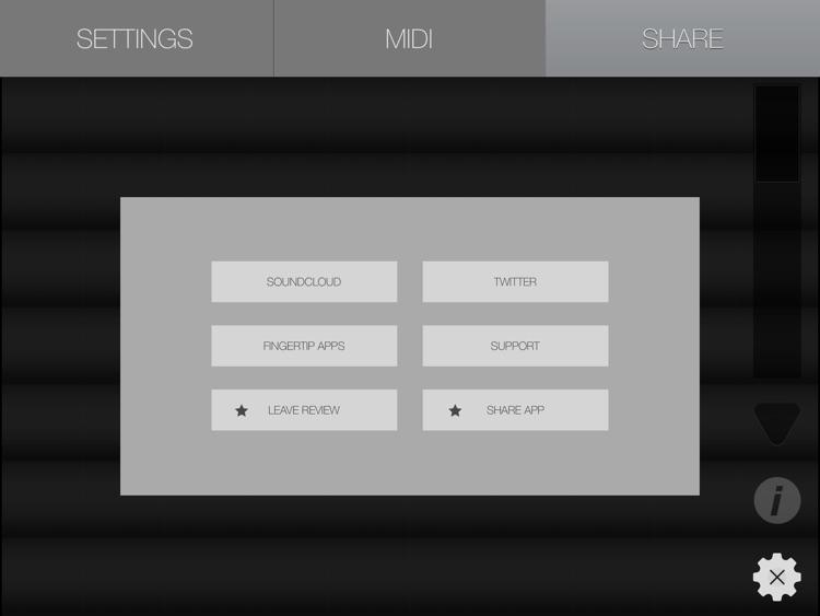 Fingertip MIDI HD - Virtual piano controller for PRO beat studio and music production. screenshot-4