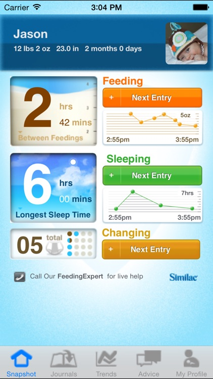 Similac Baby Journal screenshot-0