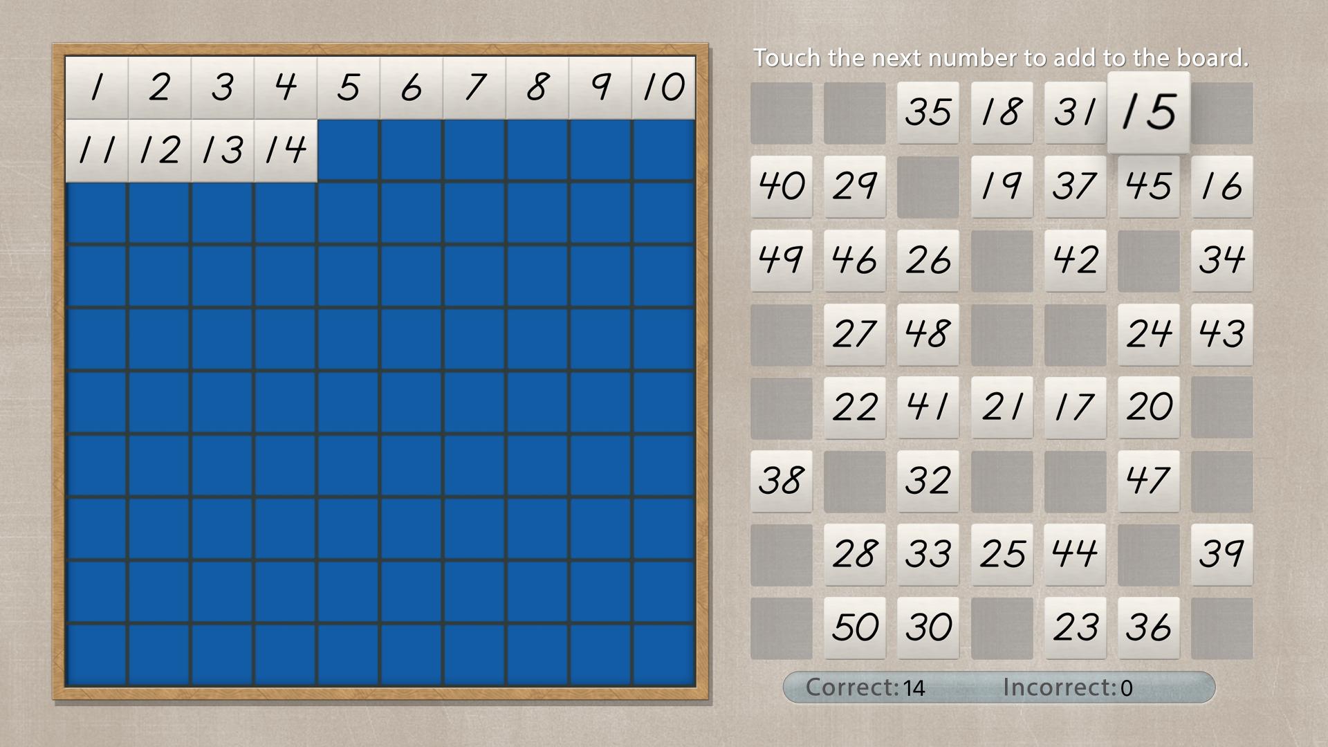 Hundred Board - Math by Mobile Montessori screenshot 3