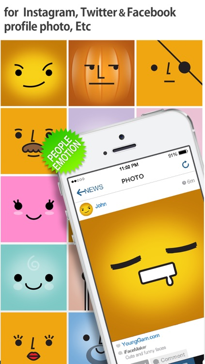 iFaceMaker ( Cute and funny faces ) : for Lock screen, Call screen, Contacts profile photo, instagram screenshot-3