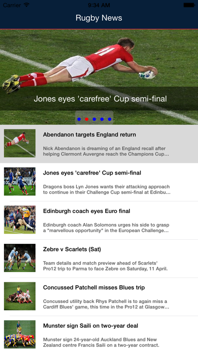 Rugby News- Live Rugby sport, scores, informations and schedules screenshot one
