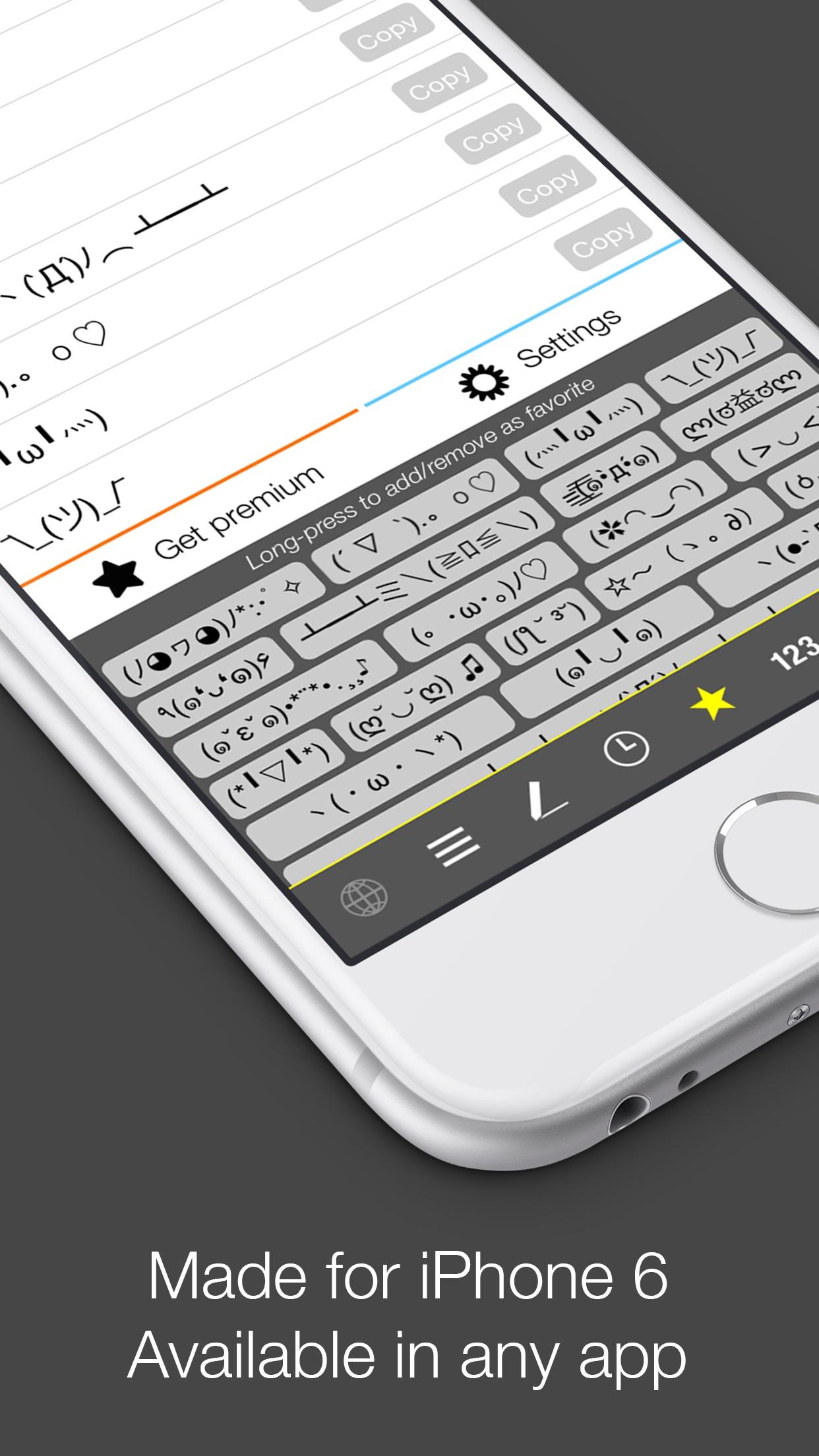 Screenshot do app Kaomoji-Keyboard