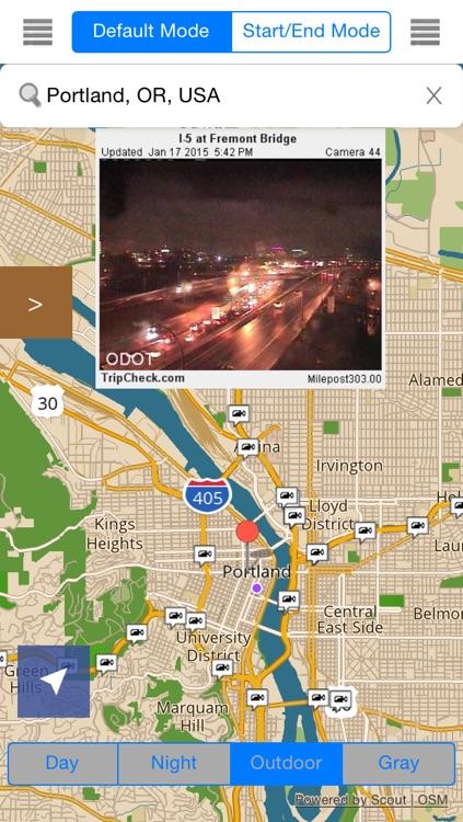 Oregon/Portland Offline Map & Navigation & POI & Travel Guide & Wikipedia with Traffic Cameras Pro