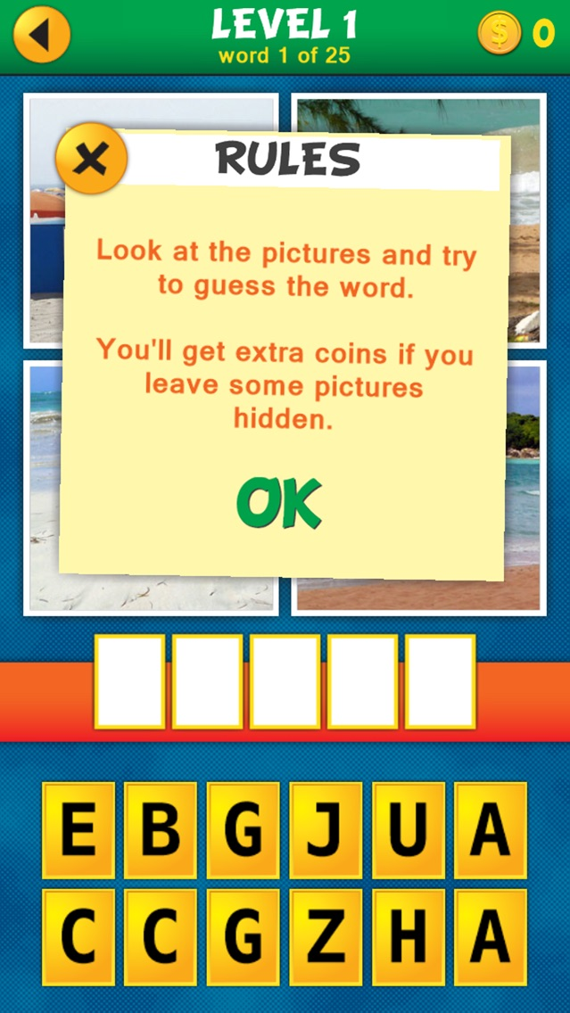 4 Pics 1 Word Puzzle: What's That Word? Screenshot