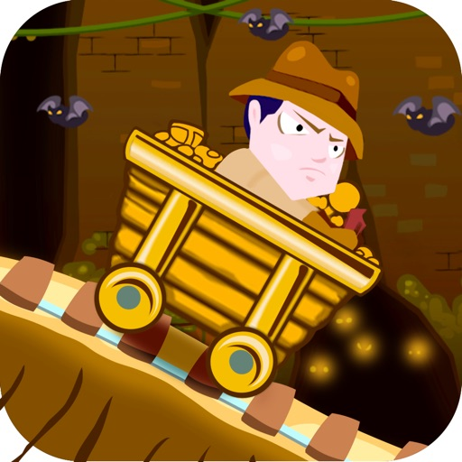 ``Action Race of Jumpy Temple Jones: Mine-Cart Rail Escape Racing Free icon