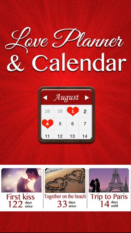 Love Planner & Calendar - Remember all the romantic moments with your sweetheart screenshot-0