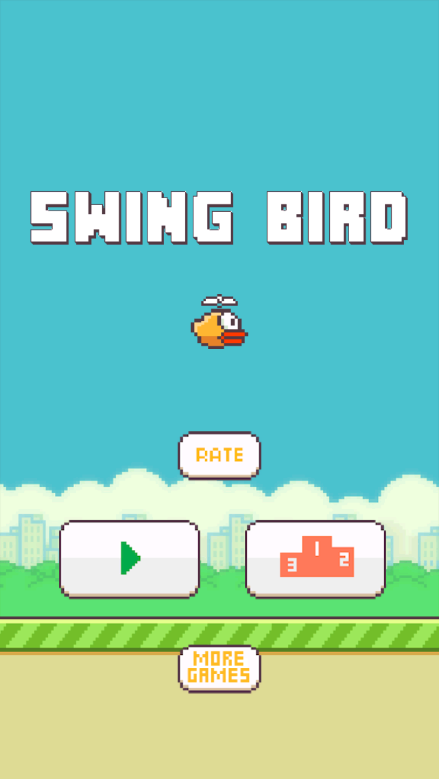 Swing Bird - Fly Like a Helicopter screenshot one