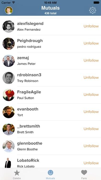 Mutual - Twitter Unfollower and Follower Tool