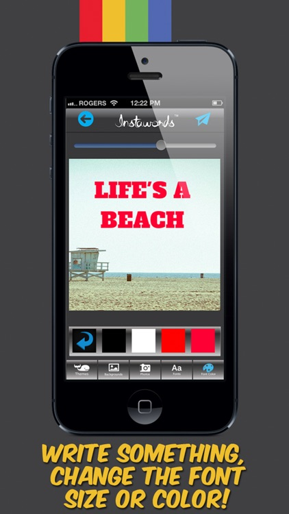 InstaWords Pro - Add Text Over Your Photos or Make Them Into Beautiful Pictures screenshot-3