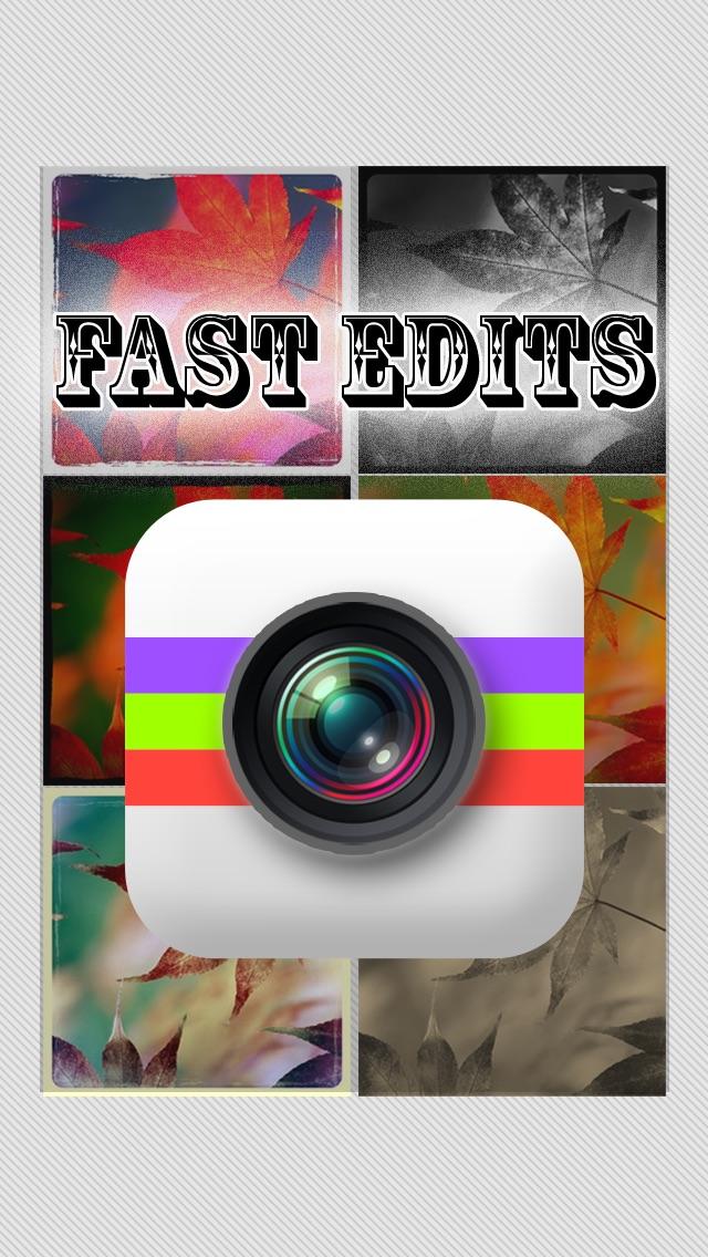 高速な編集が - を確認し、あなたの写真W/画像エフェクトと編集エフェクトのための高速クイックエディットを作成紹介画像1