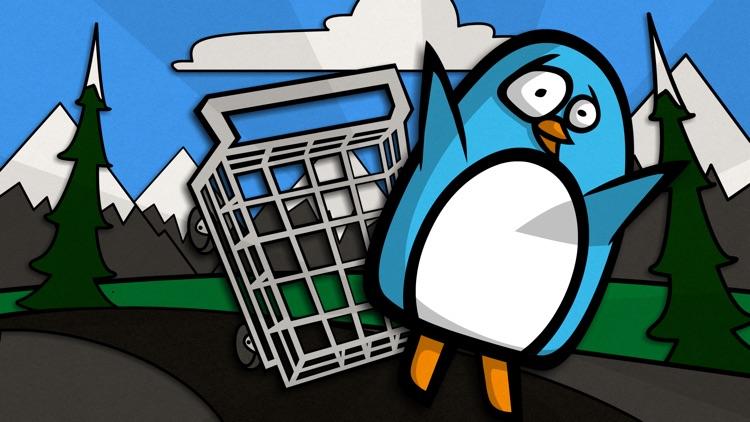Penguin in a Shopping Cart
