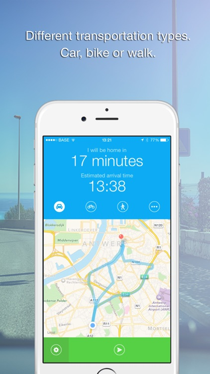 Coming Home - Share ETA (Send your arrival time.) screenshot-3