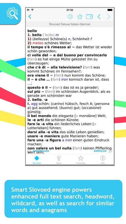 German <-> Italian Slovoed Deluxe talking dictionary