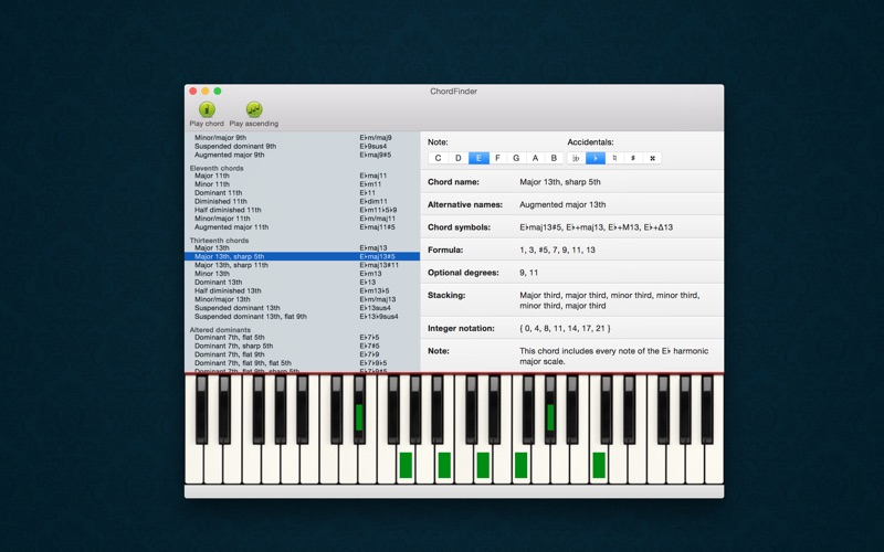 Chordfinder Piano Chord Finder For Serious Musicians App Price Drops