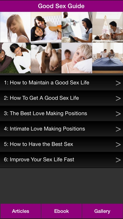 Good Sex Guide - The Guide To Help You Have A Better Sex Life!