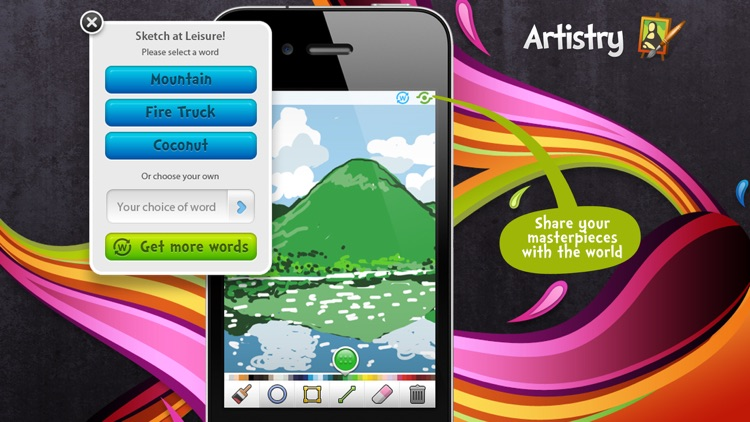 Sketch W Friends - Multiplayer Drawing and Guessing Games for iPhone screenshot-3