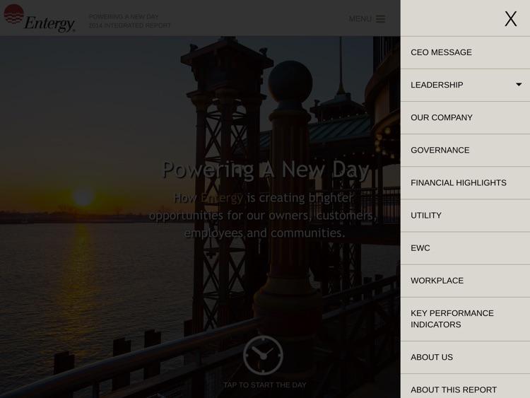 Entergy Report - tablet screenshot-3