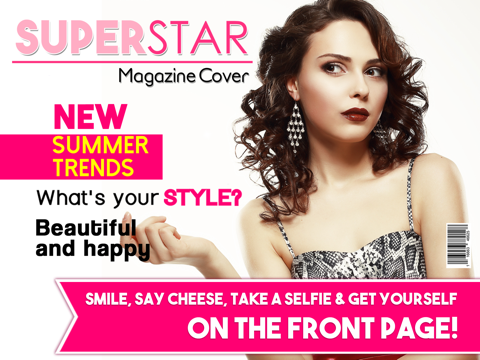 Magazine Cover Superstar - Make Fake Magazines from your