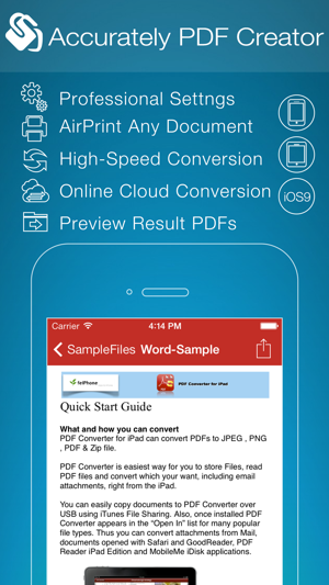Pdf creator for iphone on the app store iphone screenshots freerunsca Images
