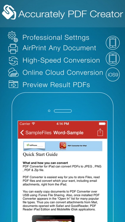 PDF Creator for iPhone screenshot-0