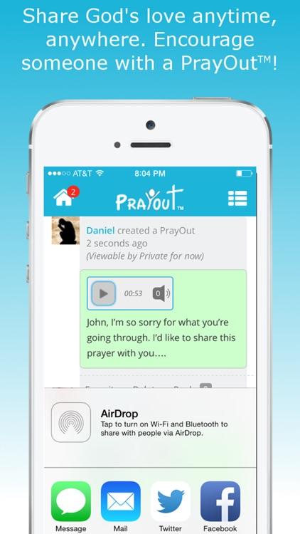 PrayOut - Voice Prayer Social Network screenshot-3