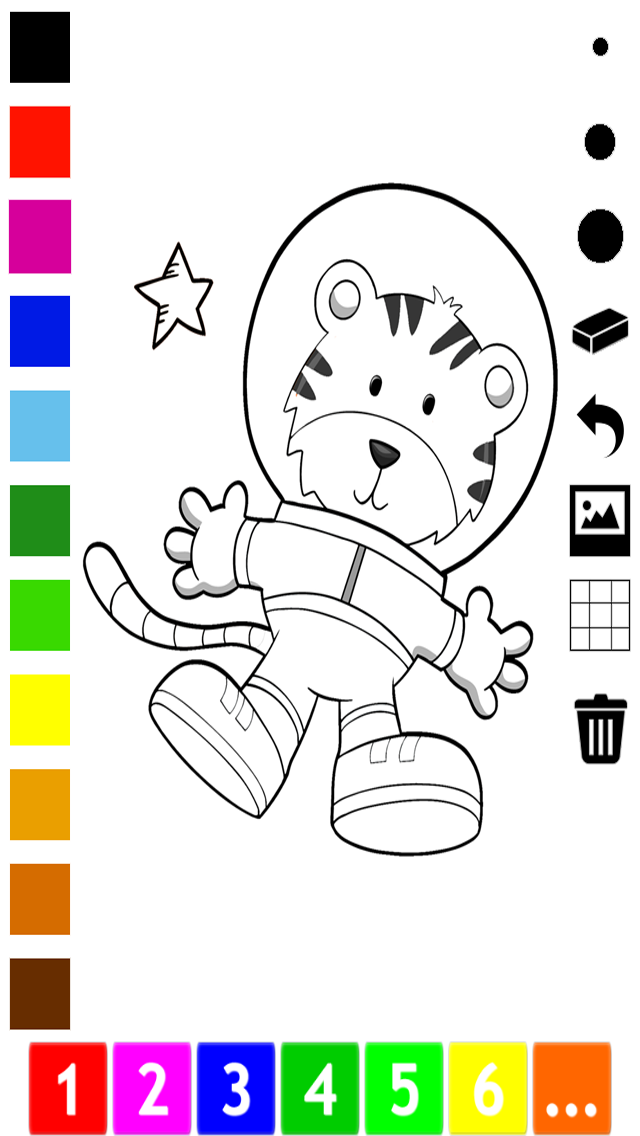 An Outer Space Coloring Book for Children: Learn to color astronaut, alien and ufo screenshot two