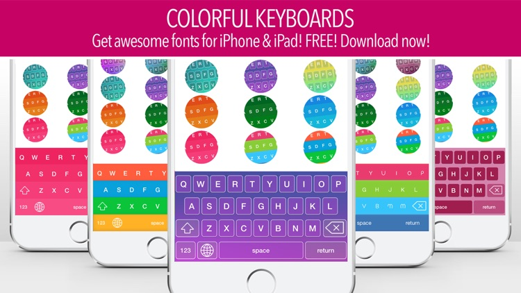 Color Keyboard ~ Cool New Keyboards & Free Fonts for iOS 8